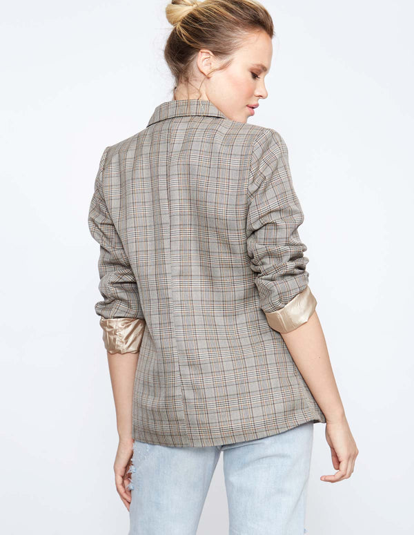 ALTAIR - Double Breasted Checked Jacket