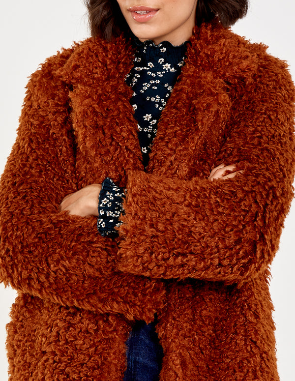 KLARA - Shaggy Fur Jacket