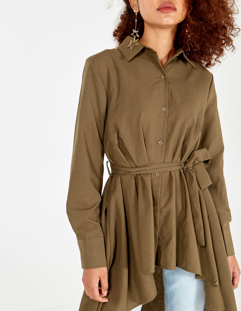 PHOENIX - High Low Shirt Dress