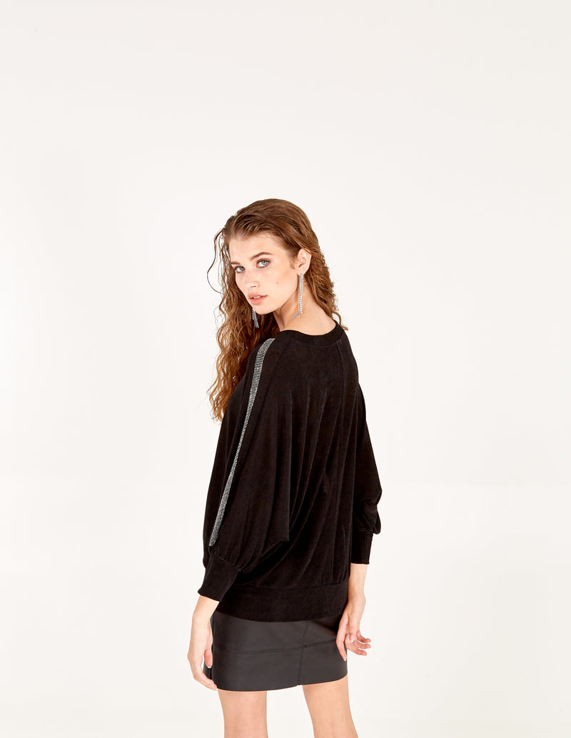 ROSANNA - Batwing Diamante Sleeve Top