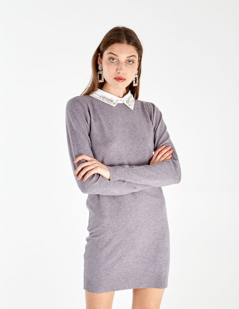 THALIA - Jewel Collar Dress