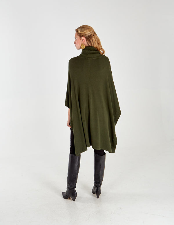ALIA - Two Pocket Roll Neck Poncho