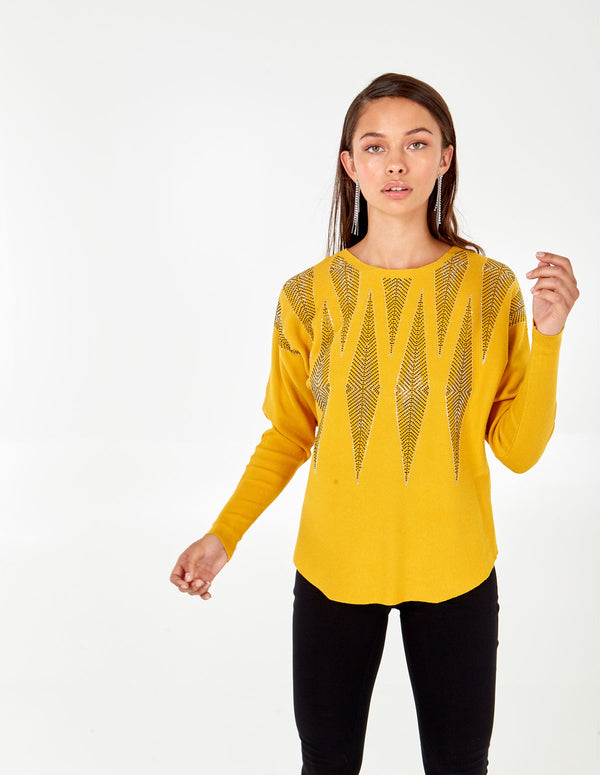 AGATHA - Chevron Diamante Batwing Jumpers