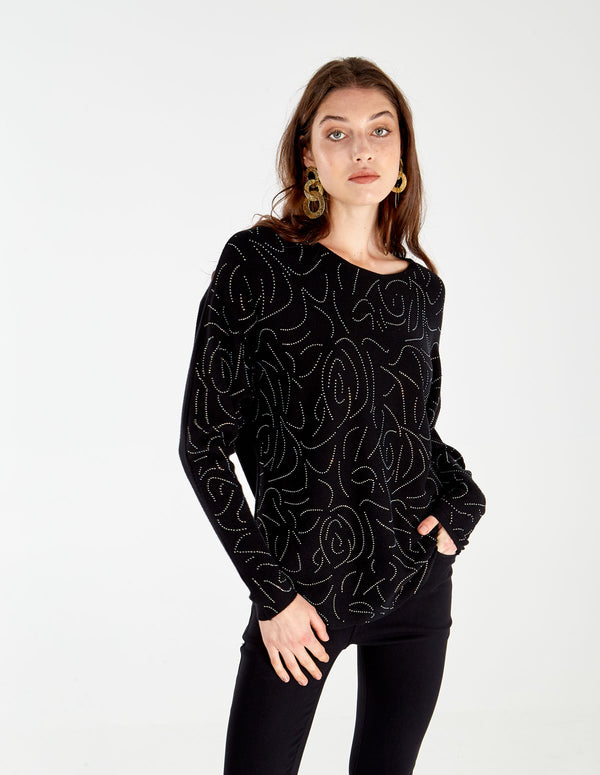 COCO - Diamante Batwing Jumper