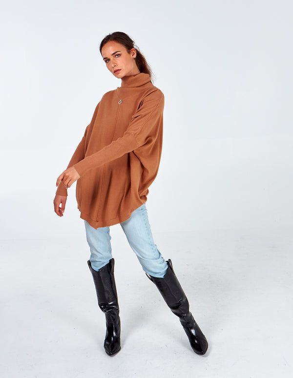 GWEN - Diamond Ring Roll Neck Tunic