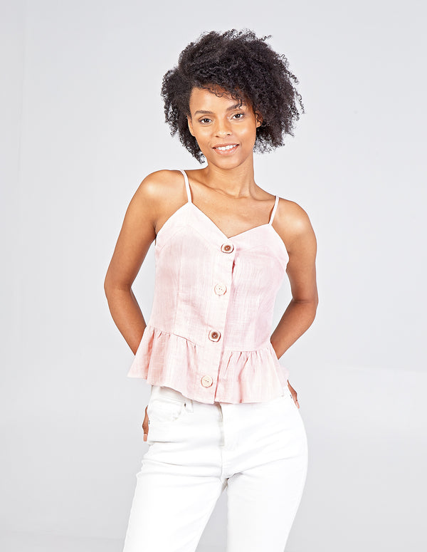 ALLEGRA - Peplum Strappy Top