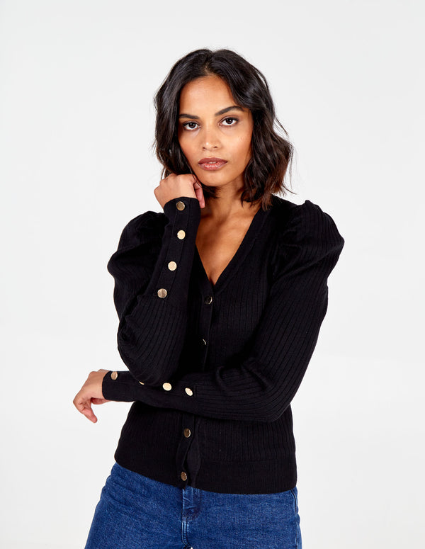 MARGOT - Puff Sleeve Cardigan
