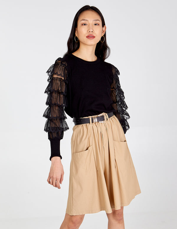 KATHLEEN - Layered Lace Frills Top