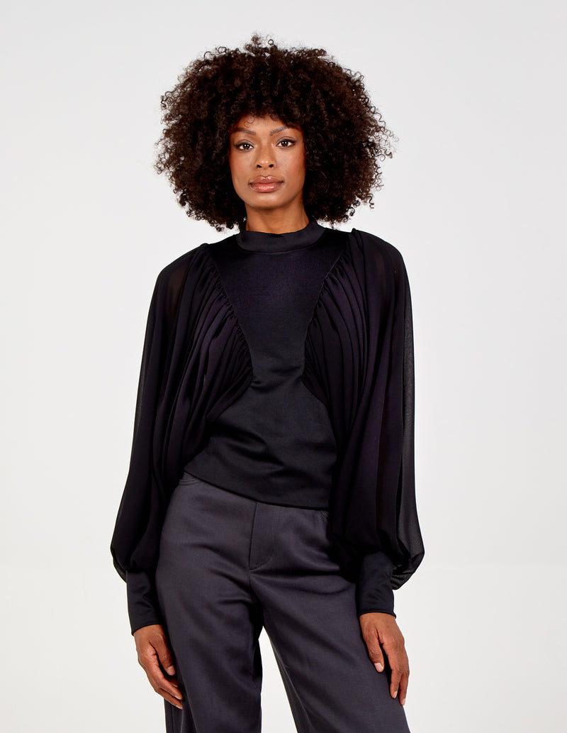 ADA - Mega Sleeve Pleated Batwing Jumper
