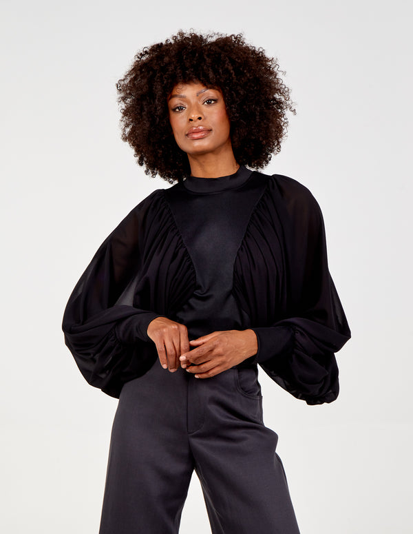 ADA - Maga Sleeve Pleated Batwing Top