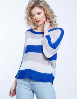 RAINE - Striped Fine Gauge Jumper