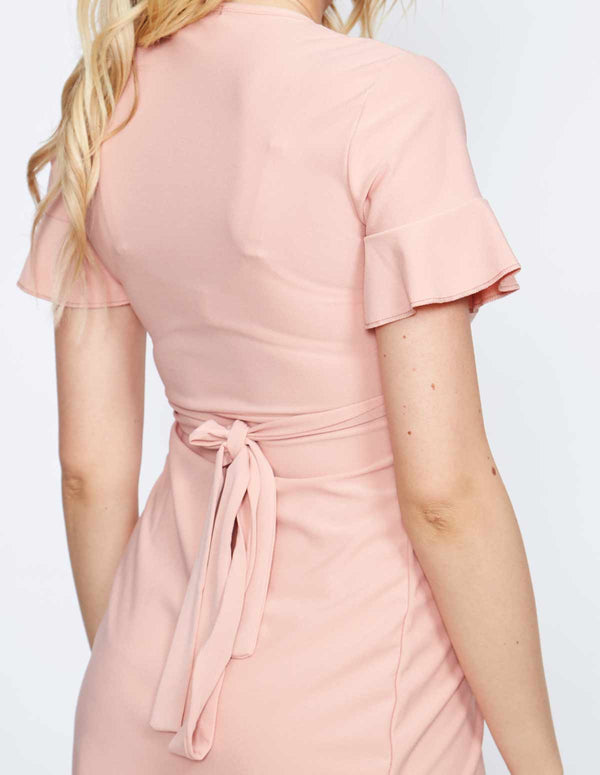 NADEZDA - Frill Wrap Rose Dress