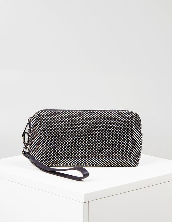 EDIE - Diamante Mesh Evening Bag