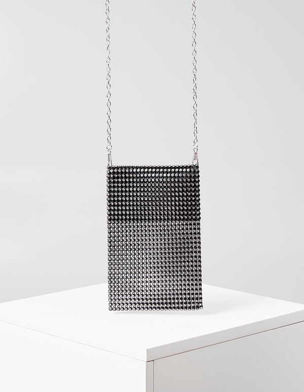 RUBIE - Diamante Mesh Chain Pocket Bag