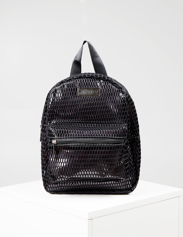 HETTY - Vinyl Mesh Back Pack