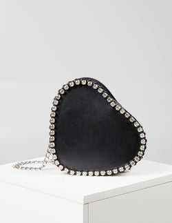 VERONICA - Chain Edge Heart Shaped Bag