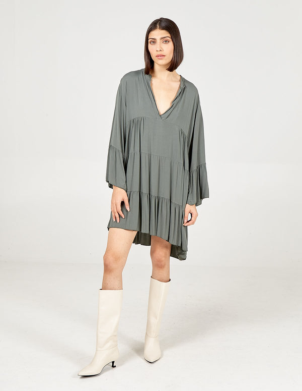 LIBBY - Long Sleeve Plain Over sized Tunic