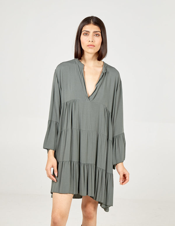 LIBBY - Long Sleeve Over Sized Tunic Dress