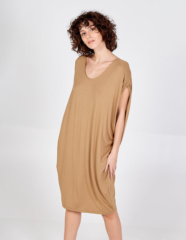 BIRDIE - Tobacco Oversized Batwing Dress