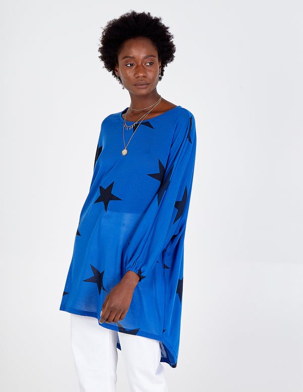NANCIE - Oversize Star Print Top