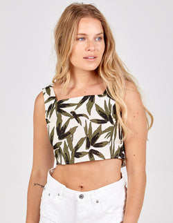 ANANYA - Tropical Print Crop Top