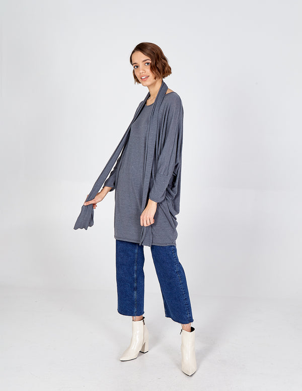 GIOVANNA - Batwing Long Sleeve Oversized Top