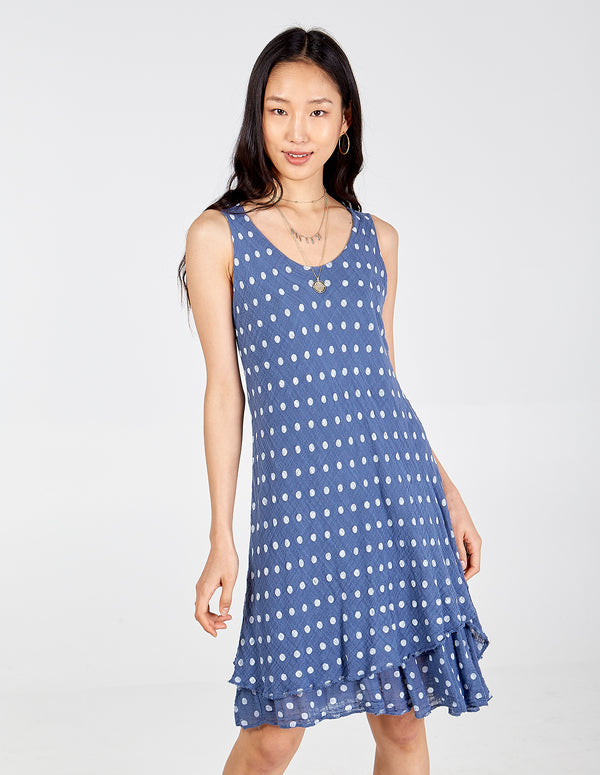 HATTIE - Polka Dot Sleeveless Summer Dress