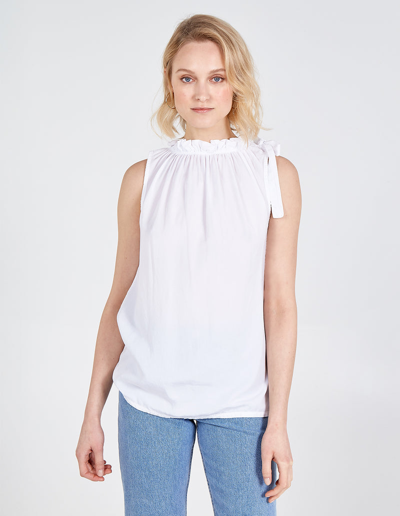 REMI - Elasticated Bow Neck Sleeveless Top