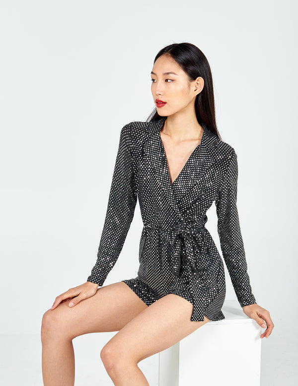 WINTER - Mirror Collar Wrap Front Playsuit