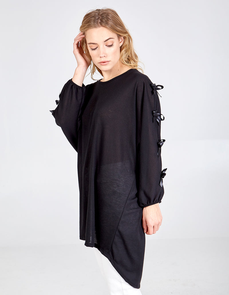 CAROLINA - Bow Sleeve Oversized Tunic Top