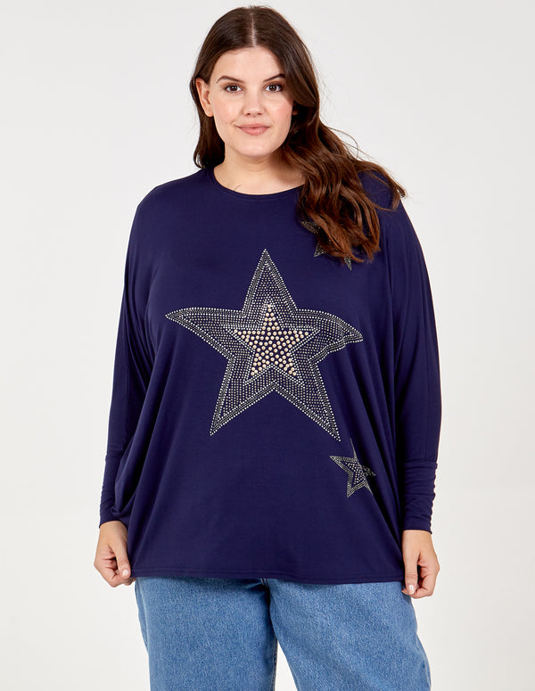 CHARLOTTE - Curve Star Oversized Top