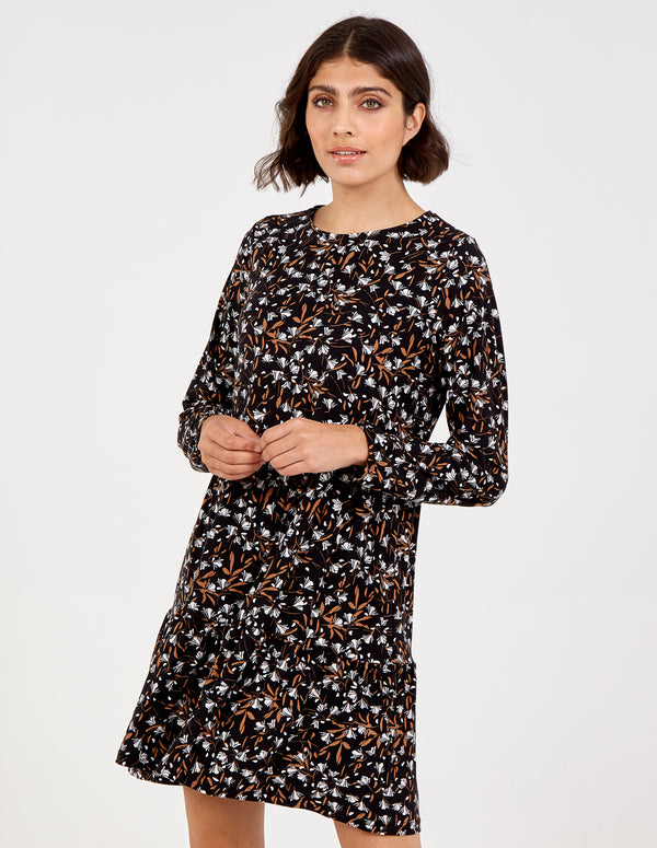 EUGENIA - Tiered Long Sleeve Dress