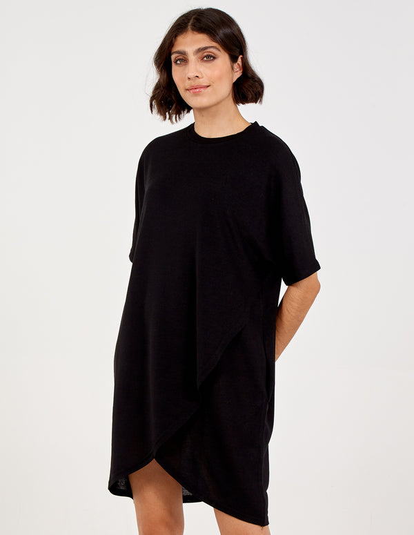 TANISHA - Asymmetric Short Sleeve Dress