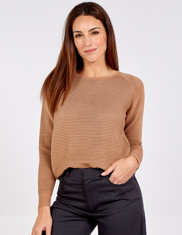 MONICA - Metallic Rib Knit Jumper