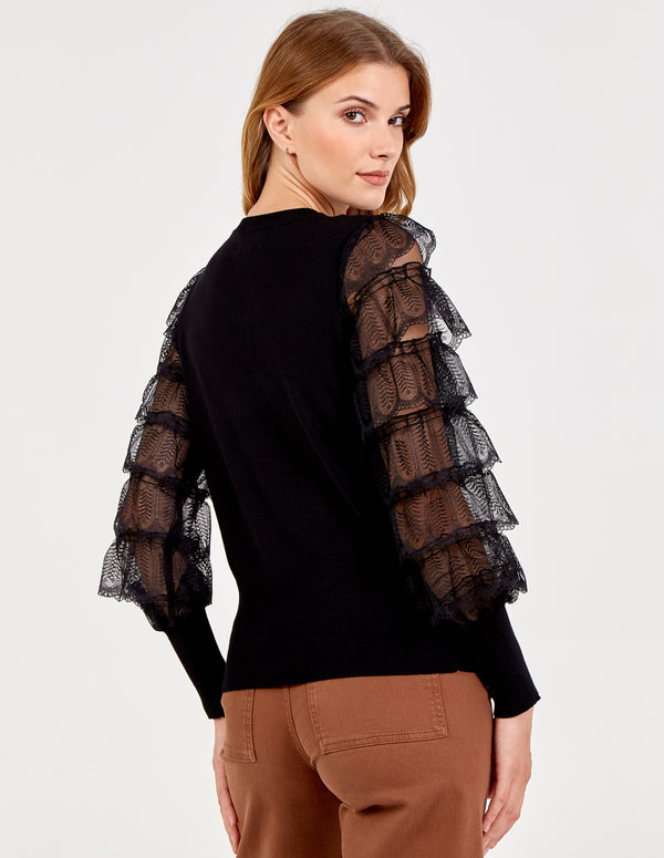 ROSE - Layered Lace Frills Top