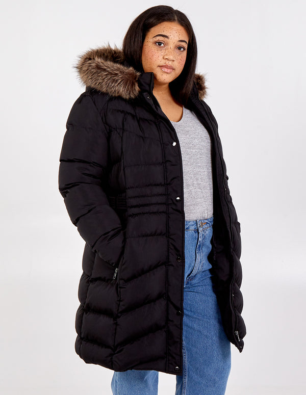 TEIGAN - Curve Hooded Puffer Coat