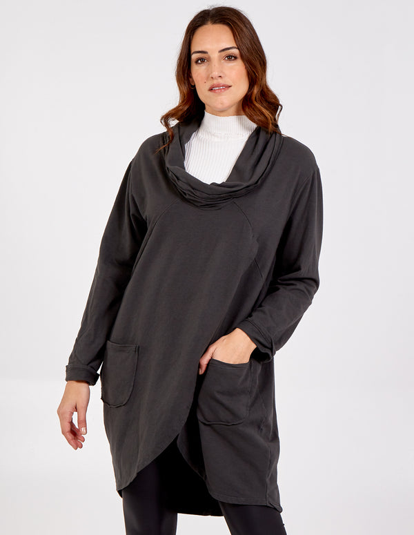 TIFFANY - Cowl Neck Tunic Top