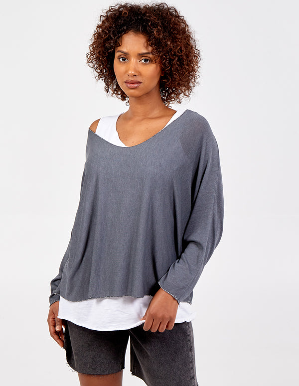 DOTTIE - 3in1 Batwing Necklace Top