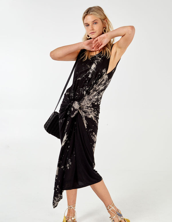 OLJA - Andy Pandy Tie dye Black dress