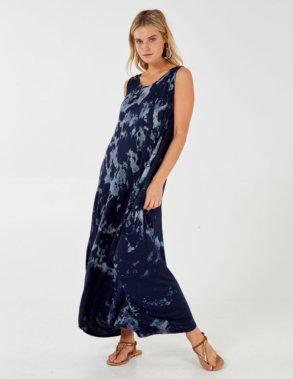OLJA - Andy Pandy Tie dye Navy dress