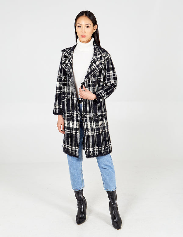 KAIA - Black Check Coat