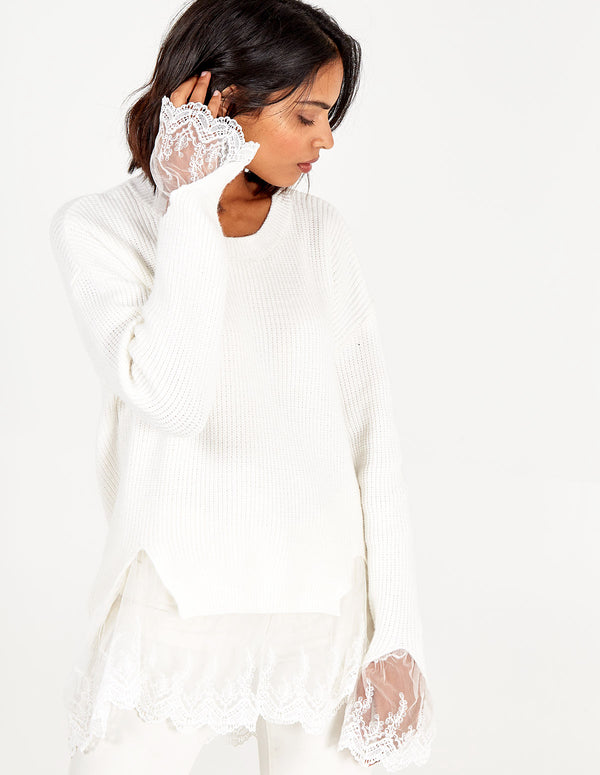 AVERY - Lace Detail Jumper