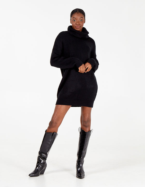 MILEY - Roll Neck Jumper Dress