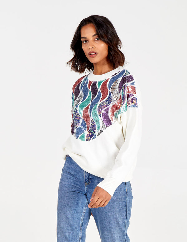 ASMA - Sequins Swirls Jumper