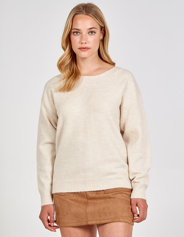 AYAT - Bow Back Oversized Jumper