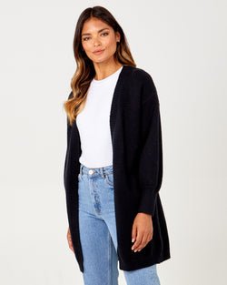 ZAINAB - Balloon Sleeve Open Front Cardigan