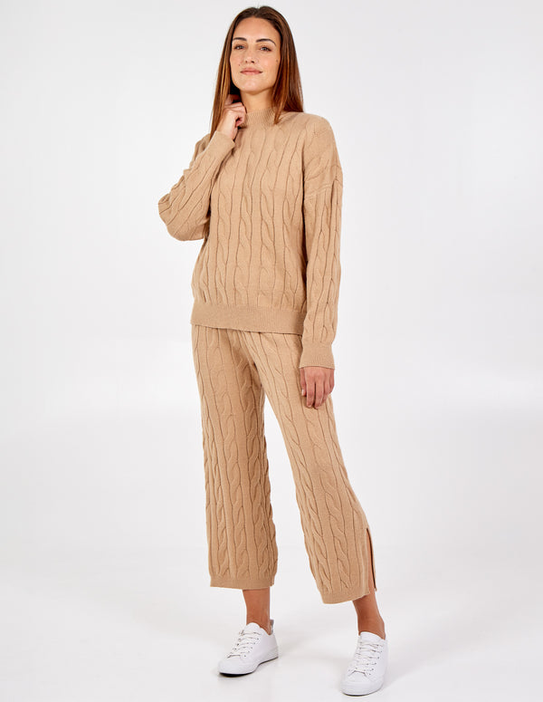 JORGIE - High Neck Cable Knit Set