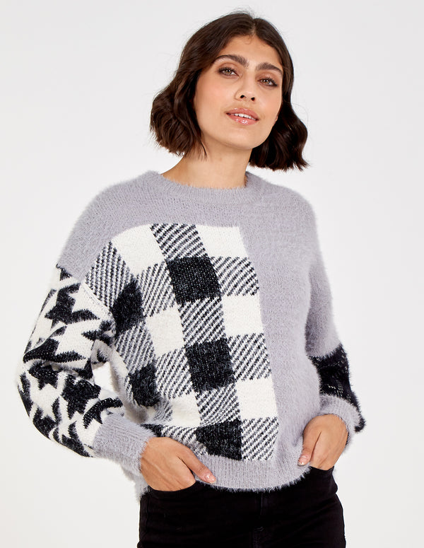 LUDOVICA - Patch Oversized Jumper