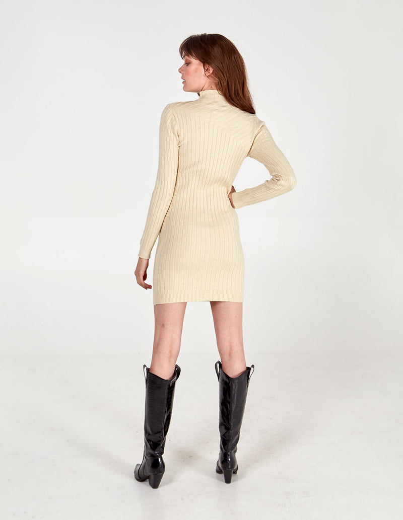 WINNIE - High Neck Bodycon Dress
