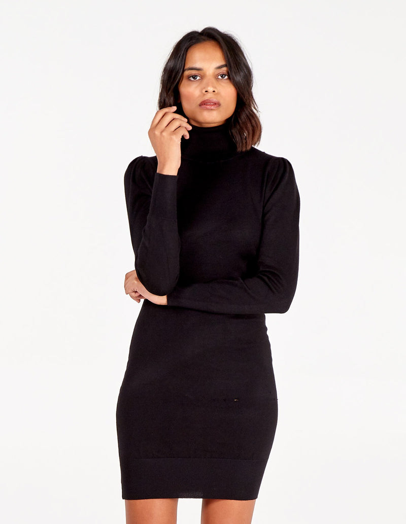 BETHAN - Roll Neck Jumper Dress